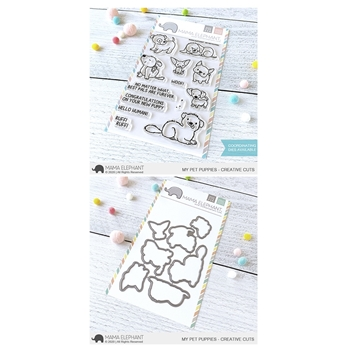 Mama Elephant Clear Stamp and Die MEPT793 My Pet Puppies SET