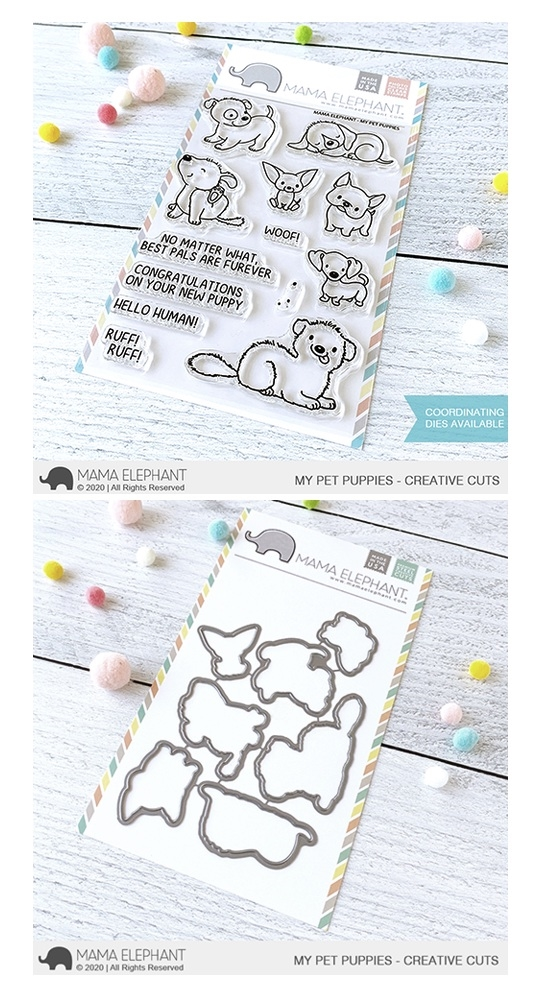 Mama Elephant Clear Stamp and Die MEPT793 My Pet Puppies SET zoom image