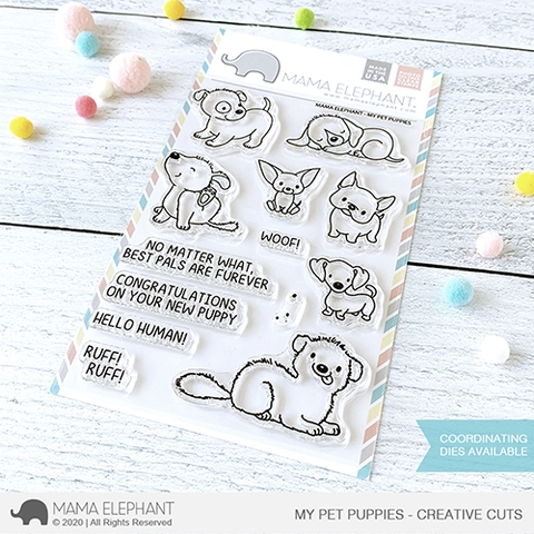 Mama Elephant Clear Stamps MY PET PUPPIES Preview Image