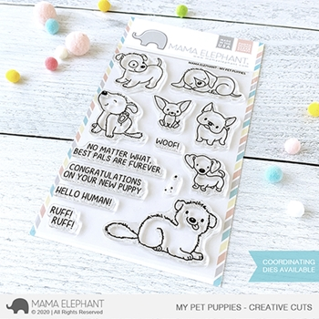 Mama Elephant Clear Stamps MY PET PUPPIES