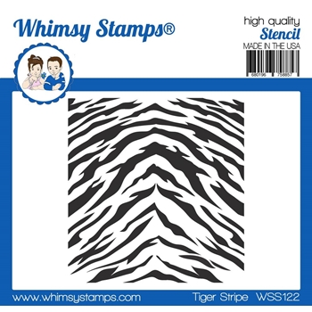 Whimsy Stamps TIGER STRIPES Stencil WSS122