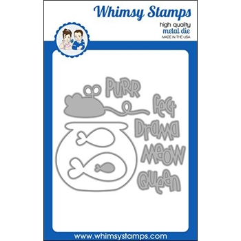 Whimsy Stamps KITTY ACESSORIES Dies WSD453
