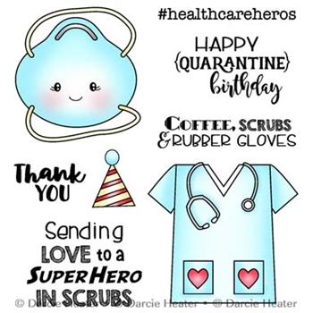 Darcie's SCRUBS HERO Clear Stamp Set pol462