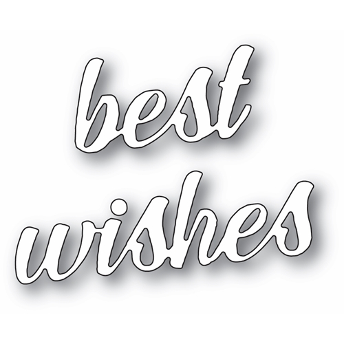 Memory Box BEST WISHES BANNER SCRIPT Craft Dies 94394 Preview Image