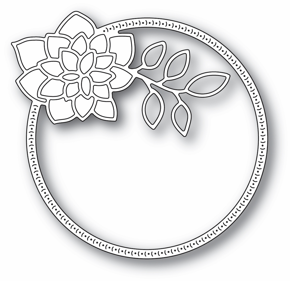 Memory Box DAHLIA CIRCLE FRAME Craft Dies 94412 zoom image