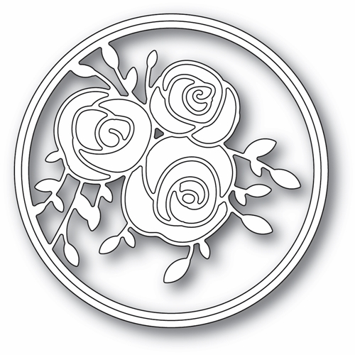 Memory Box SCRIBBLE ROSE TRIO AND BACKGROUND Craft Dies 94436 Preview Image