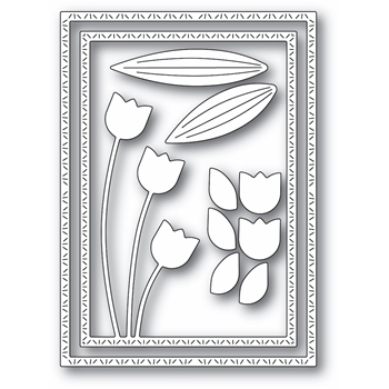 Memory Box TULIP TRIO FRAME Craft Dies 94440