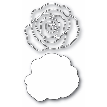 Memory Box GRACEFUL ROSE AND BACKGROUND Craft Dies 94451
