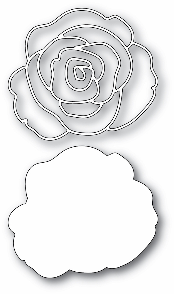 Memory Box GRACEFUL ROSE AND BACKGROUND Craft Dies 94451 zoom image