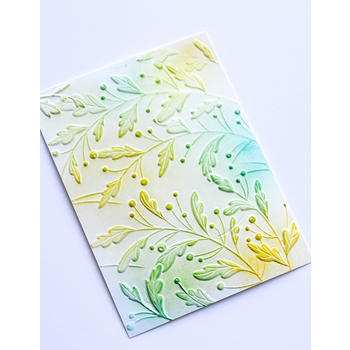 Memory Box GRACIOUS LEAVES 3D Embossing Folder ef1002