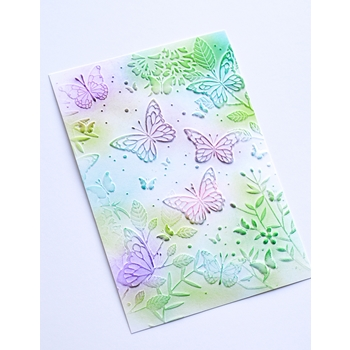 Memory Box BUTTERFLY GATHERING 3D Embossing Folder ef1005*