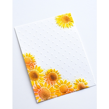 Memory Box FLORAL CORNER 3D Embossing Folder ef1007