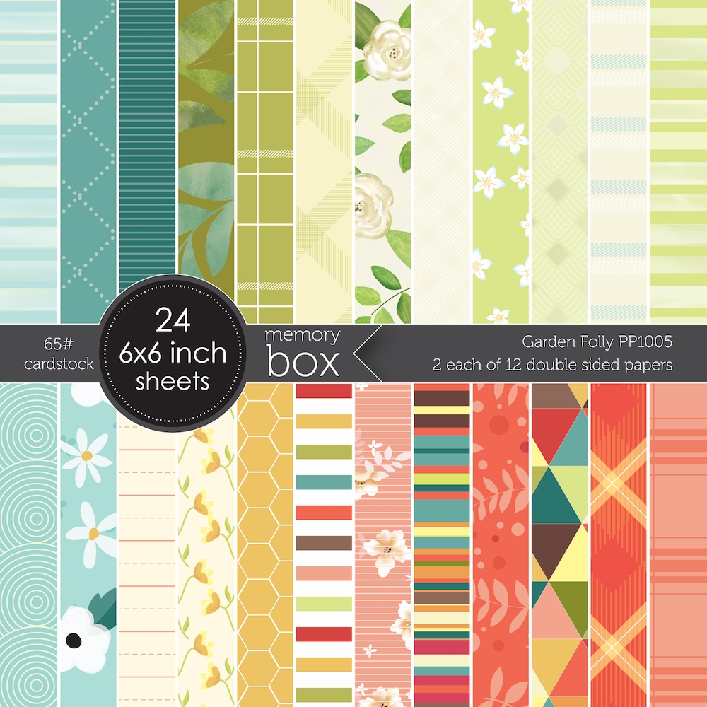 Memory Box GARDEN FOLLY 6x6 pack Pack pp1005 zoom image