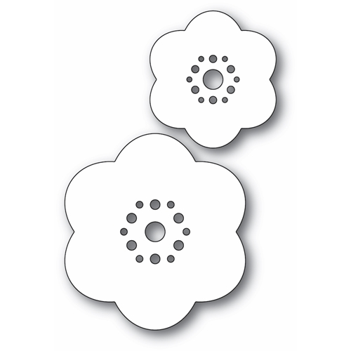 Poppy Stamps ROUNDED BLOOM FLOWERS Craft Dies 2337 Preview Image