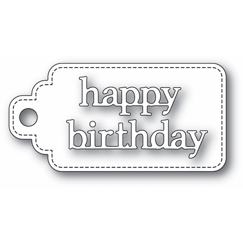 Poppy Stamps HAPPY BIRTHDAY STITCHED TAG Craft Dies 2364 Preview Image