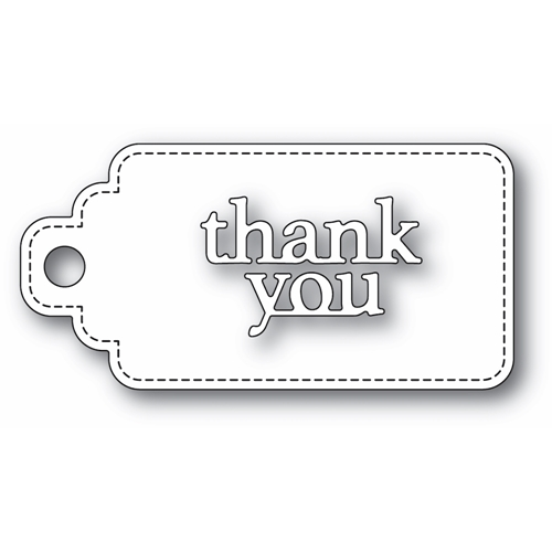 Poppy Stamps THANK YOU STITCHED TAG Craft Dies 2365 Preview Image