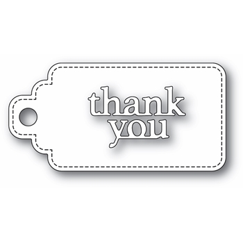 Poppy Stamps THANK YOU STITCHED TAG Craft Dies 2365