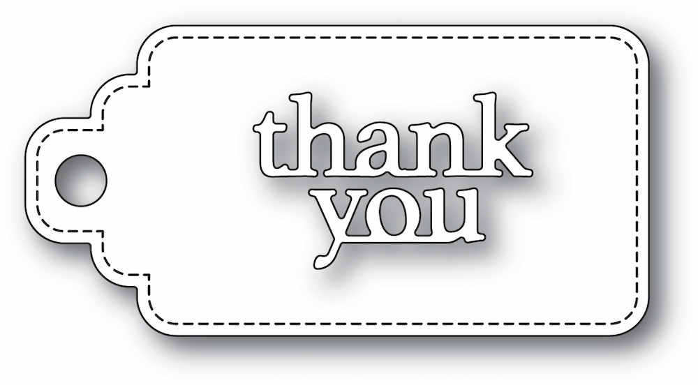 Poppy Stamps THANK YOU STITCHED TAG Craft Dies 2365 zoom image