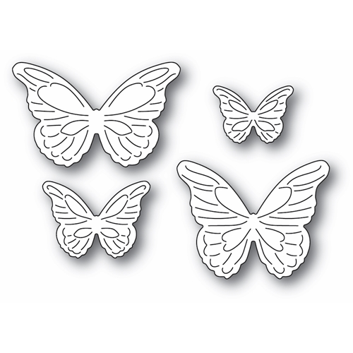 Poppy Stamps INTRICATE CUT BUTTERFLIES Craft Dies 2367 Preview Image
