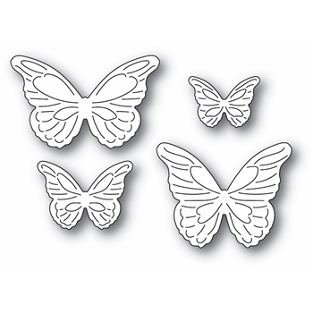 Poppy Stamps INTRICATE CUT BUTTERFLIES Craft Dies 2367