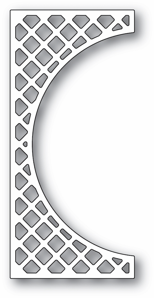 Poppy Stamps LATTICE SMALL CURVE BORDER Craft Die 2345 zoom image
