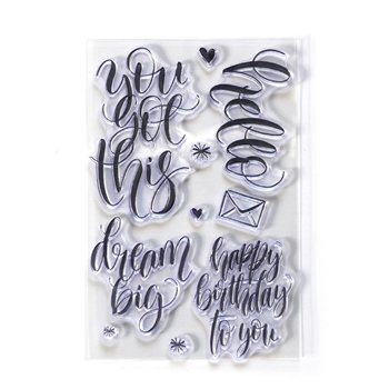 Elizabeth Craft Designs Clear Stamps HELLO cs173