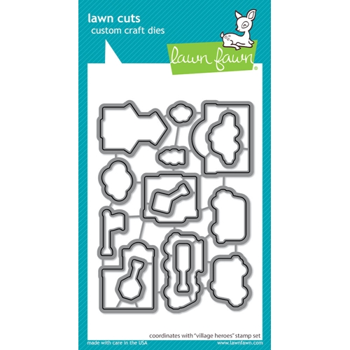 Lawn Fawn VILLAGE HEROES Die Cuts lf2238 Preview Image