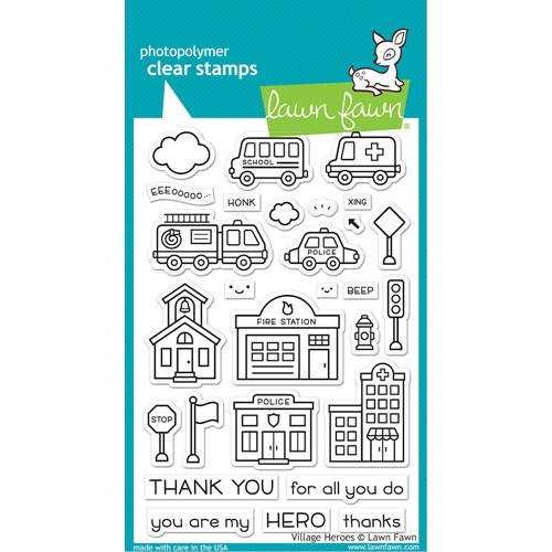 Lawn Fawn VILLAGE HEROES Clear Stamps lf2327 Preview Image