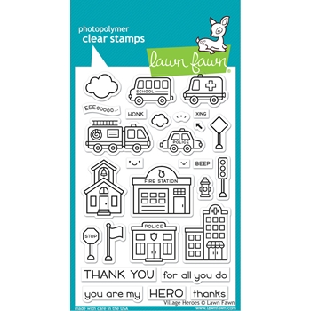 Lawn Fawn VILLAGE HEROES Clear Stamps lf2327