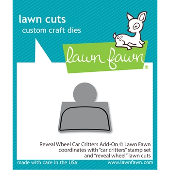 RESERVE Lawn Fawn REVEAL WHEEL CAR CRITTERS Die Cuts lf2340