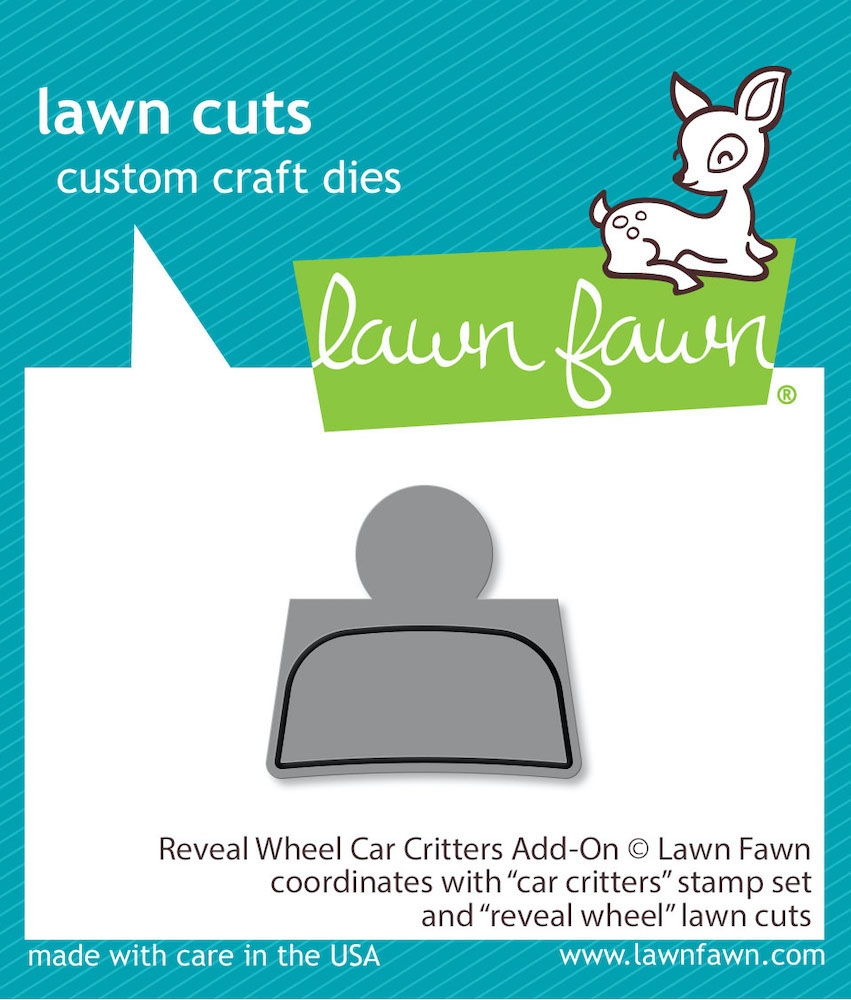 Lawn Fawn REVEAL WHEEL CAR CRITTERS Die Cuts lf2340 zoom image