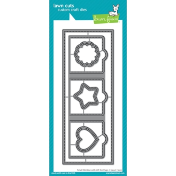 Lawn Fawn SMALL SLIMLINE WITH LIFT THE FLAPS Die Cuts lf2358