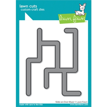 RESERVE Lawn Fawn SLIDE ON OVER MAZE Die Cuts lf2360