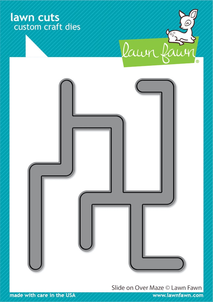 Lawn Fawn SLIDE ON OVER MAZE Die Cuts lf2360 zoom image