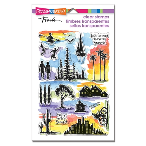 Stampendous Clear Stamps SUNRISE SUNSET ssc2006 Preview Image