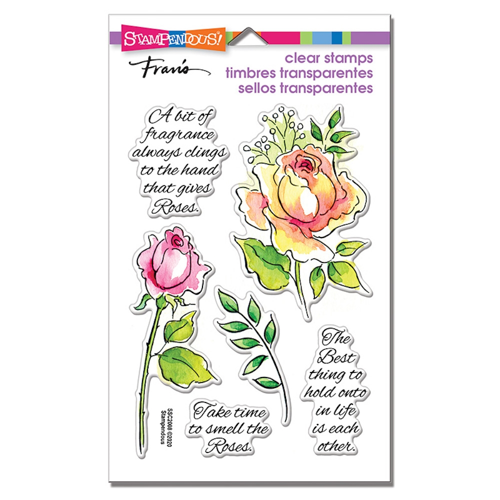 Stampendous Clear Stamps FRAGRANT ROSE ssc2008 zoom image