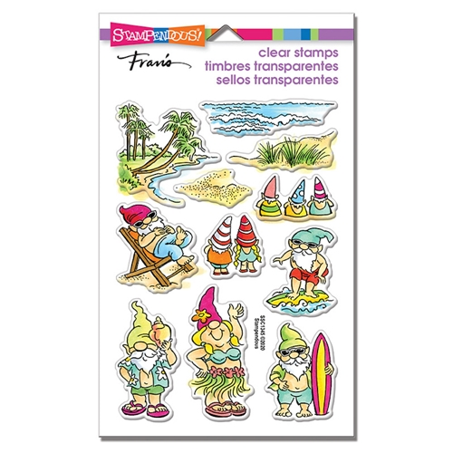 Stampendous Clear Stamps GNOME BEACH ssc1345 Preview Image