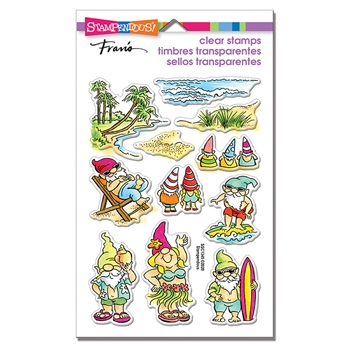 Stampendous Clear Stamps GNOME BEACH ssc1345
