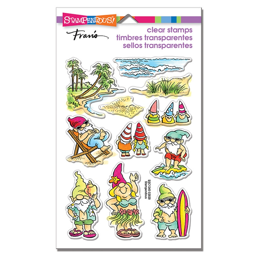 Stampendous Clear Stamps GNOME BEACH ssc1345 zoom image