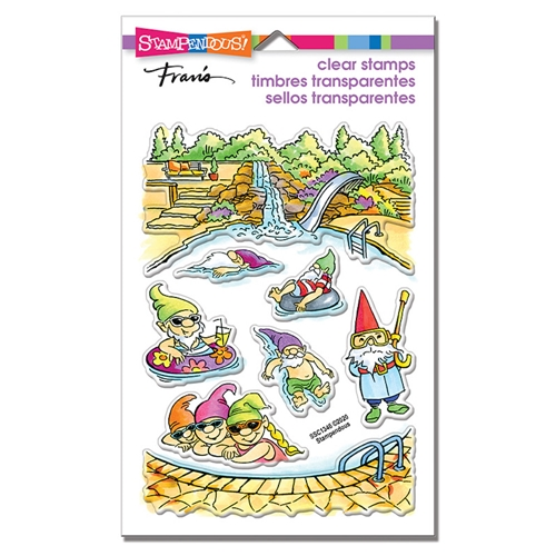 Stampendous Clear Stamps GNOME POOL ssc1346 Preview Image