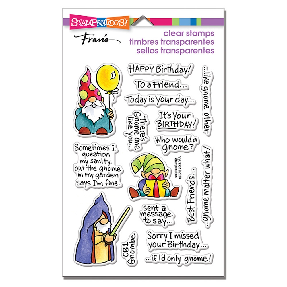 Stampendous Clear Stamps GNOME SAYINGS ssc1352 zoom image