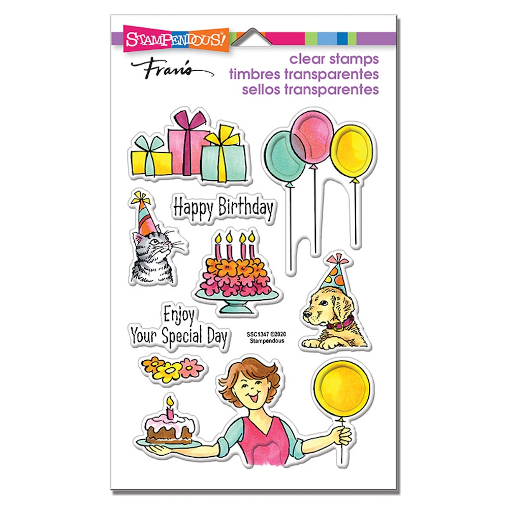 Stampendous Clear Stamps BIRTHDAY GIFT ssc1347 zoom image