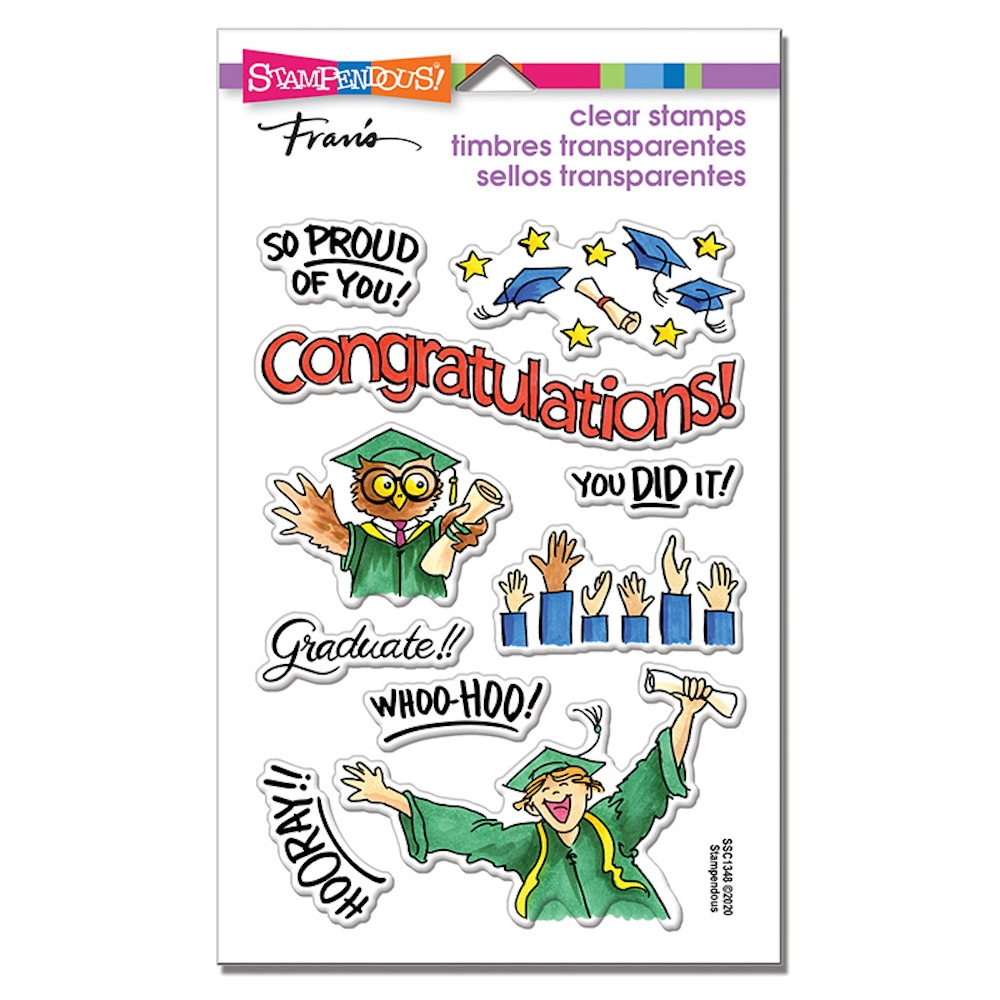 Stampendous Clear Stamps GRAD GIFT ssc1348 zoom image
