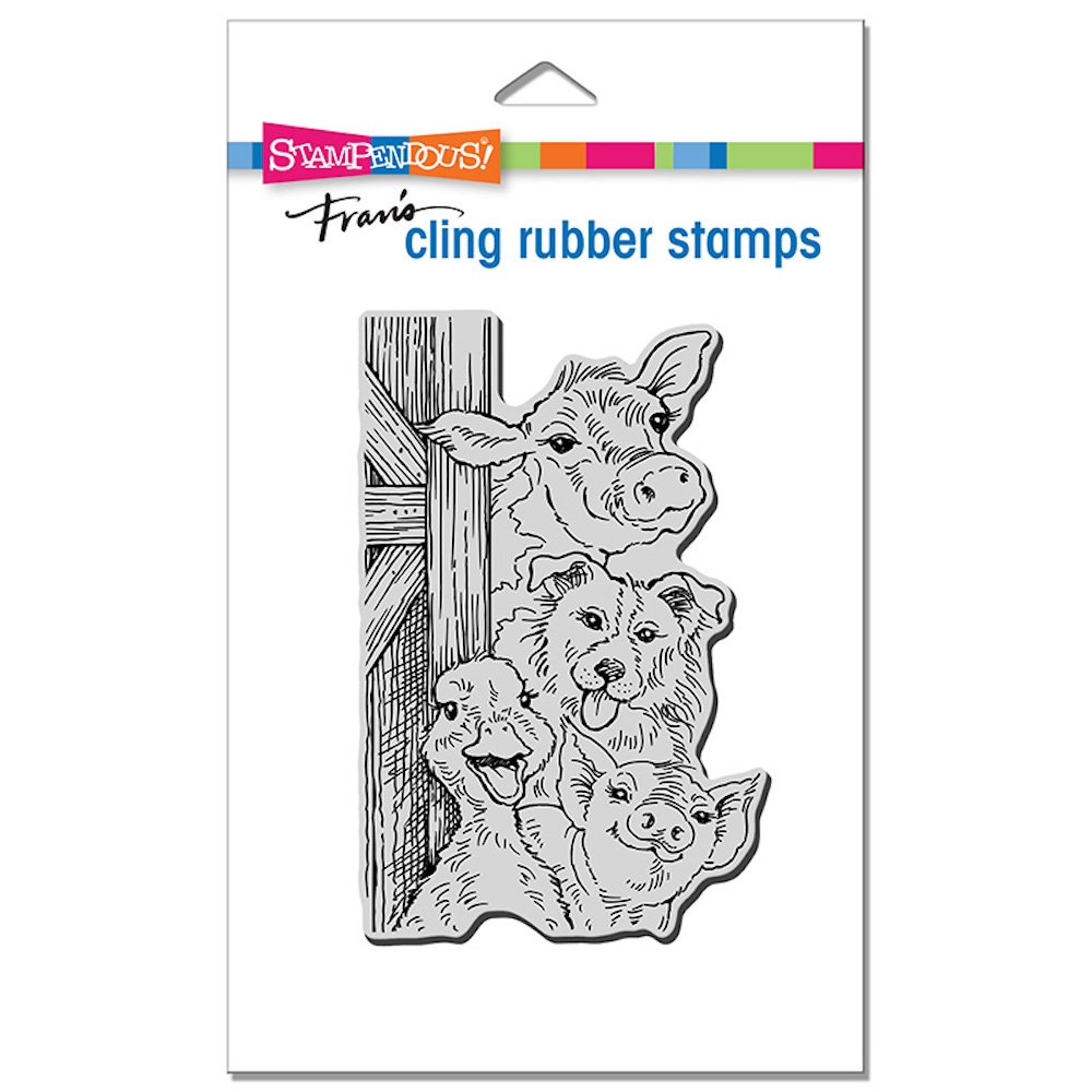 Stampendous Cling Stamp FUNNY FARM crp354 zoom image