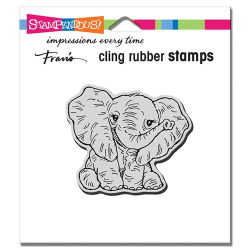 Stampendous Cling Stamp PETITE PACHYDERM crv347 Preview Image