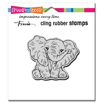 Stampendous Cling Stamp PETITE PACHYDERM crv347