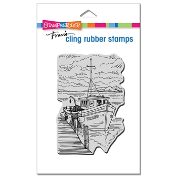Stampendous Cling Stamp BOAT DOCKING crp351