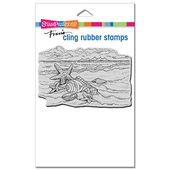 Stampendous Cling Stamp SEASIDE SHELLS crp353