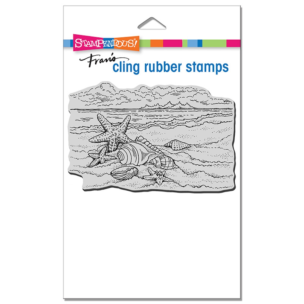 Stampendous Cling Stamp SEASIDE SHELLS crp353 zoom image