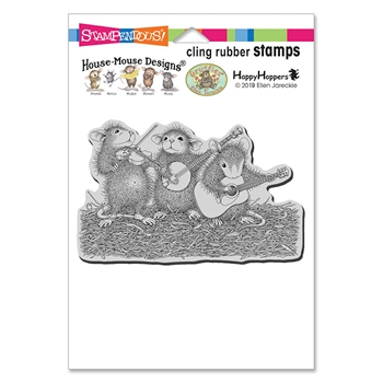 Stampendous Cling Stamp BAND OF MICE hmcp121 House Mouse